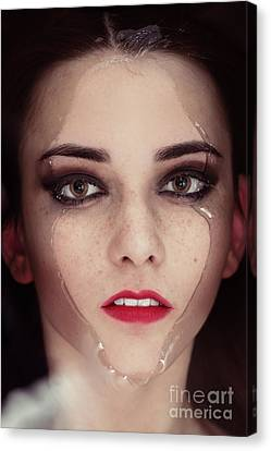 Face In Water Canvas Print by Aleksey Tugolukov