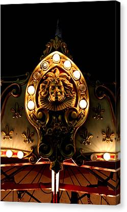 Face Lit Canvas Print by Dana  Oliver