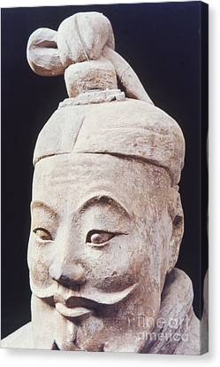 Face Of A Terracotta Warrior Canvas Print by Heiko Koehrer-Wagner