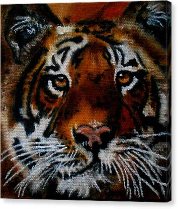 Face Of A Tiger Canvas Print