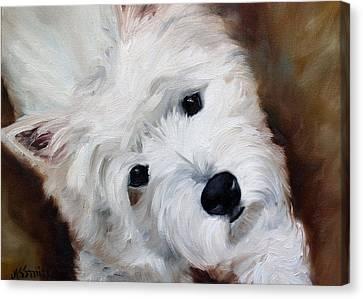 Face Of Endearment Canvas Print by Mary Sparrow