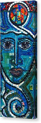 Face Of Light  Canvas Print by Helen mclean