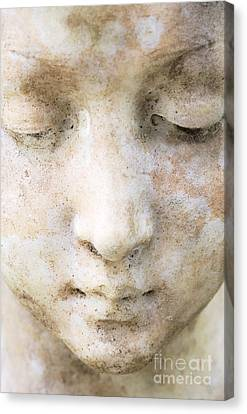 Face Of Stone Canvas Print by Neil Overy