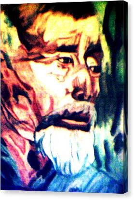 Face Of Strength  Canvas Print by Jo-Ann Hayden