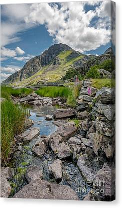 Face Of Tryfan Canvas Print by Adrian Evans