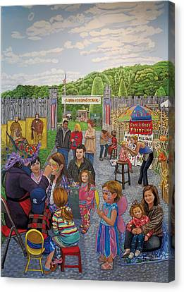 Face Painting At The Long Island Fair Canvas Print by Bonnie Siracusa