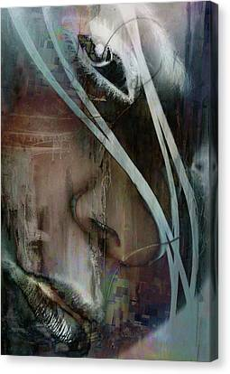 Canvas Print featuring the digital art Face Pop by Greg Sharpe
