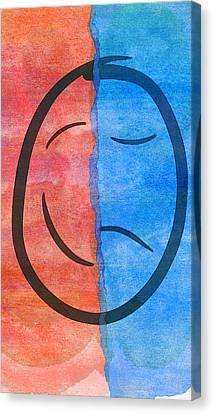 Face Sad Bipolar  Canvas Print