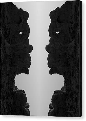 Face To Face IIi Bw Canvas Print