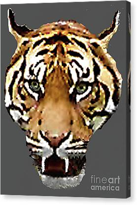 Canvas Print featuring the photograph Face-to-face With A Bengal Tiger  by Merton Allen