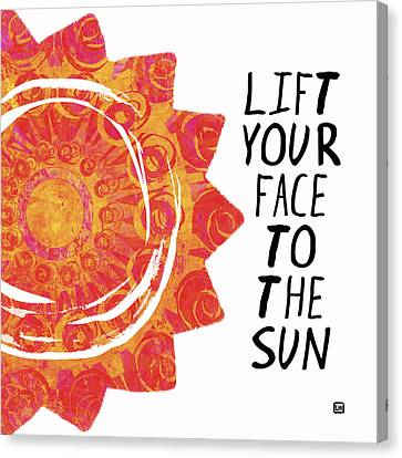 Canvas Print featuring the painting Face To The Sun by Lisa Weedn