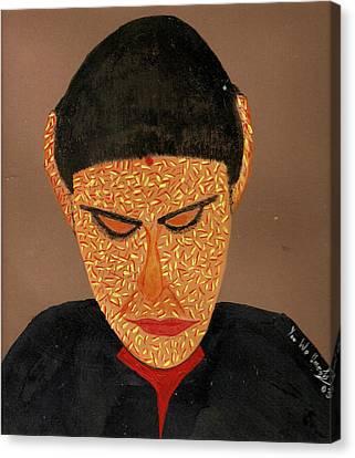 Face Canvas Print by Umesh U V