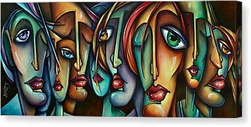Stare Canvas Print - 'face Us' by Michael Lang