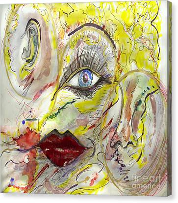 Face Canvas Print by Vera Laake
