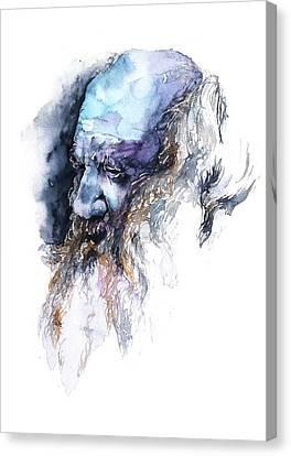 Shoreline Old Men Canvas Print - Face#11 by Rafal Wnek