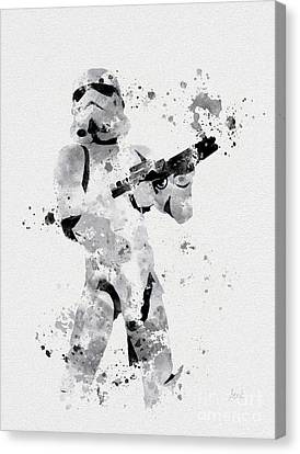 Mix Media Canvas Print - Faceless Enforcer by Rebecca Jenkins