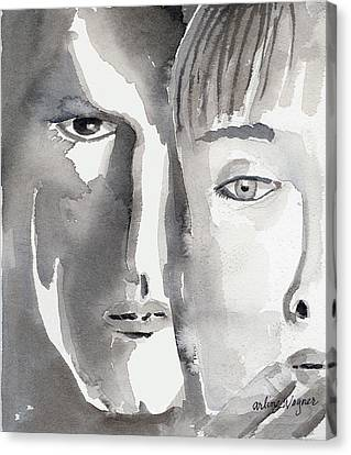 Faces Canvas Print by Arline Wagner