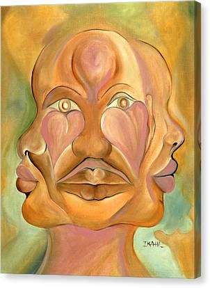 Faces Of Copulation Canvas Print by Ikahl Beckford
