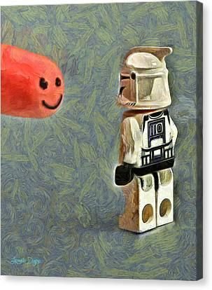 Facetrooper - Da Canvas Print by Leonardo Digenio