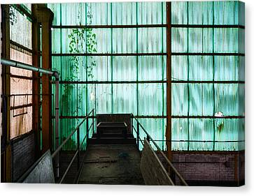 Factory Wall - Industrial Decay Canvas Print by Dirk Ercken