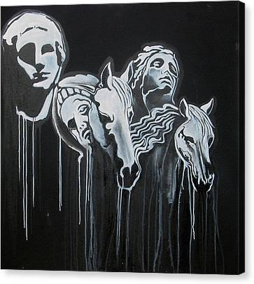 Fade To Black And Remember Back... Canvas Print by Stephen  Barry
