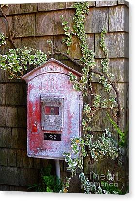 Faded Cape Cod Firebox Canvas Print by Sharon Eng