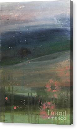 Canvas Print featuring the painting Faded Days Gone By by Robin Maria Pedrero