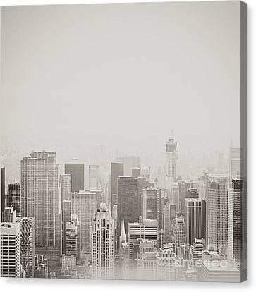 Faded Skyline Canvas Print