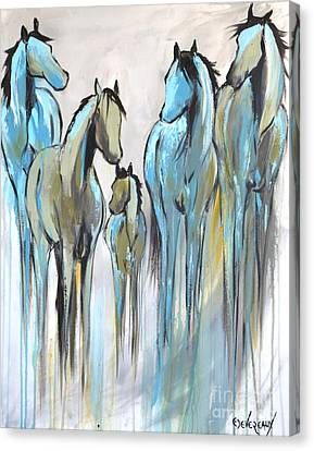Canvas Print featuring the painting Fading 2 by Cher Devereaux