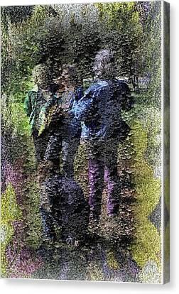 Fading Flower Children Canvas Print by Kathleen Romana