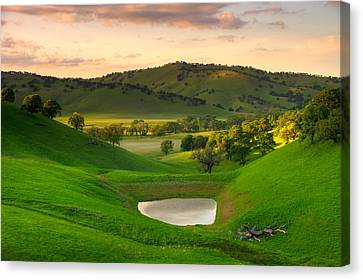 Fading Light At Round Valley Canvas Print by Marc Crumpler