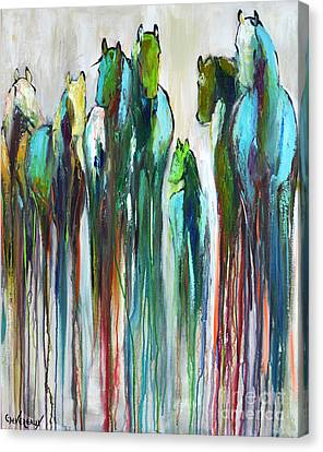 Canvas Print featuring the painting Fading Souls by Cher Devereaux