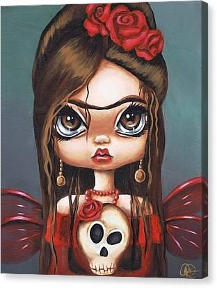 Fae Frida Canvas Print by Sour Taffy