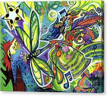 Music Inspired Art Canvas Print - Faerie Lyric And Her Magical Kingdom by Genevieve Esson