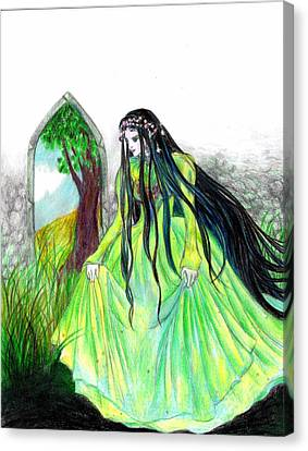 Faerie Queen Canvas Print by Rebecca Tripp