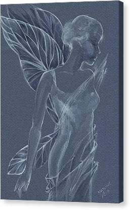 Canvas Print featuring the painting Faery Shadow by Nadine Dennis