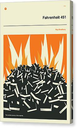 Censorship Canvas Print - Fahrenheit 451 by Jazzberry Blue