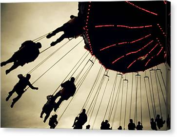 Fair Flying Canvas Print by Kerry Langel
