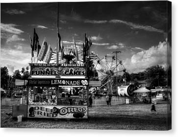 Fair Food In Black And White Canvas Print by Greg Mimbs