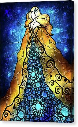 Fair Ophelia Canvas Print by Mandie Manzano