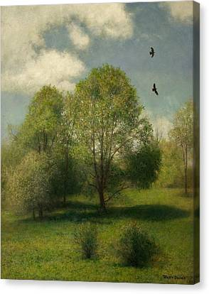 Canvas Print featuring the painting Fairchild Hill by Wayne Daniels