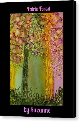 Canvas Print featuring the painting Fairie Forest by Suzanne Canner