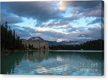 Fairmont Hotel Lake Louise Canvas Print