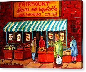 Fairmount Fruit And Vegetables Canvas Print by Carole Spandau