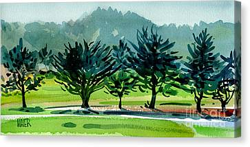 Fairway Junipers Canvas Print by Donald Maier