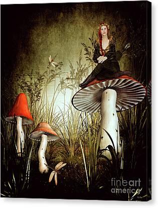 Fairy Archer Canvas Print by KaFra Art