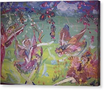 Fairy Ballet Canvas Print by Judith Desrosiers