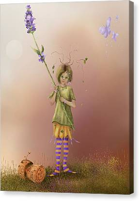 Fairy Bella Lavender Canvas Print