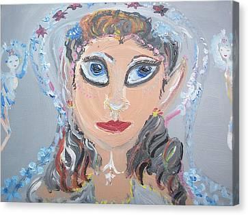 Fairy Bride Canvas Print by Judith Desrosiers