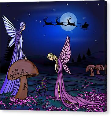 Fairy Christmas Canvas Print by Barbara St Jean